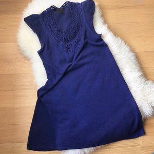 BCBGMAXAZRIA purple A-line dress